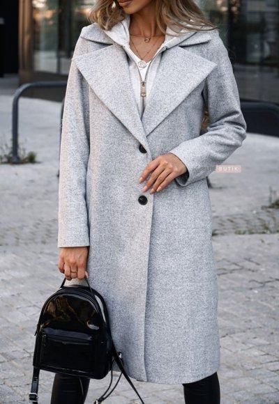 Płaszcz z kapturem NEW YORK j. szary 2