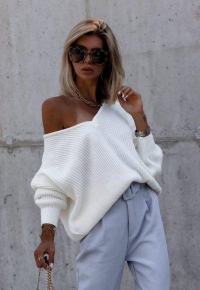 Sweter DAWSON biały