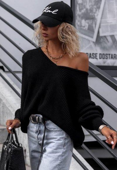 Sweter DAWSON czarny