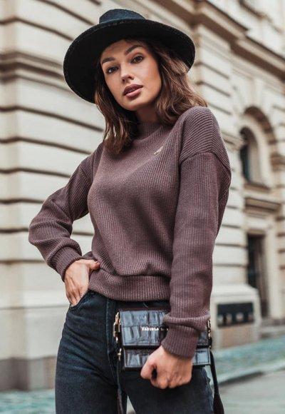 Sweter ORLANDO brązowy