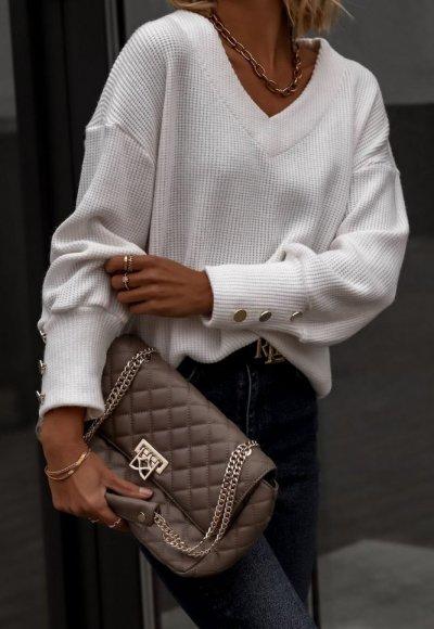 Sweter FABIOLA biały