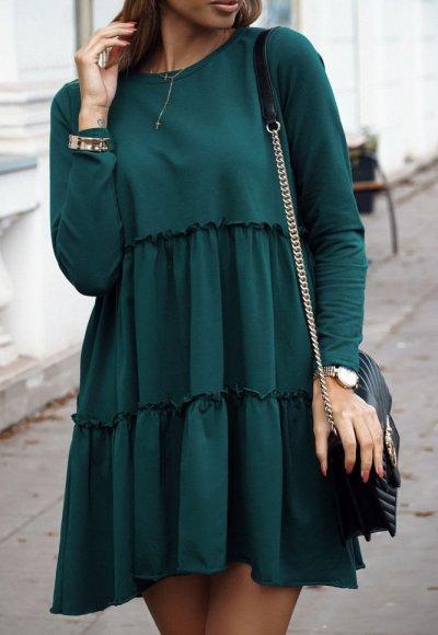 Sukienka JANETT turkusowa