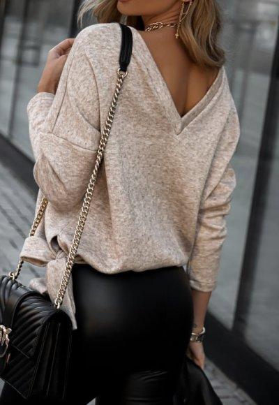 Sweter KAILO beż melanż 2