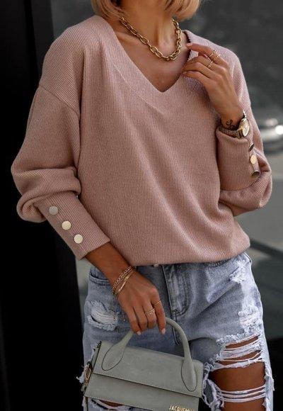 Sweter FABIOLA pudrowy beż 1