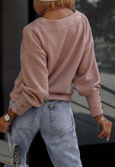 Sweter FABIOLA pudrowy beż 2