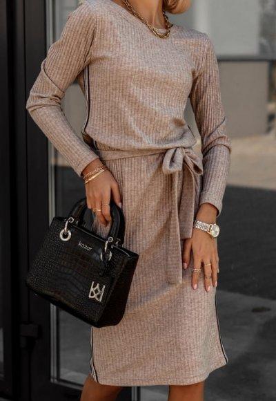 Sukienka LAMOUR beżowa 2