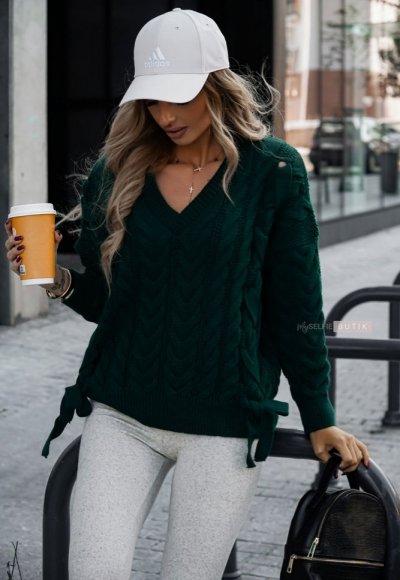 Sweter LILEY zieleń butelkowa 1