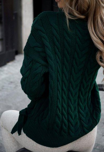 Sweter LILEY zieleń butelkowa 2