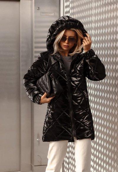Płaszcz pikowany MOONLIGHT czarny